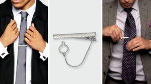 Как носить зажим для галстука с цепочкой