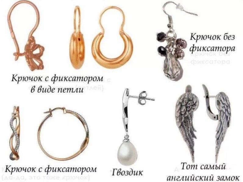 Виды застежки разные