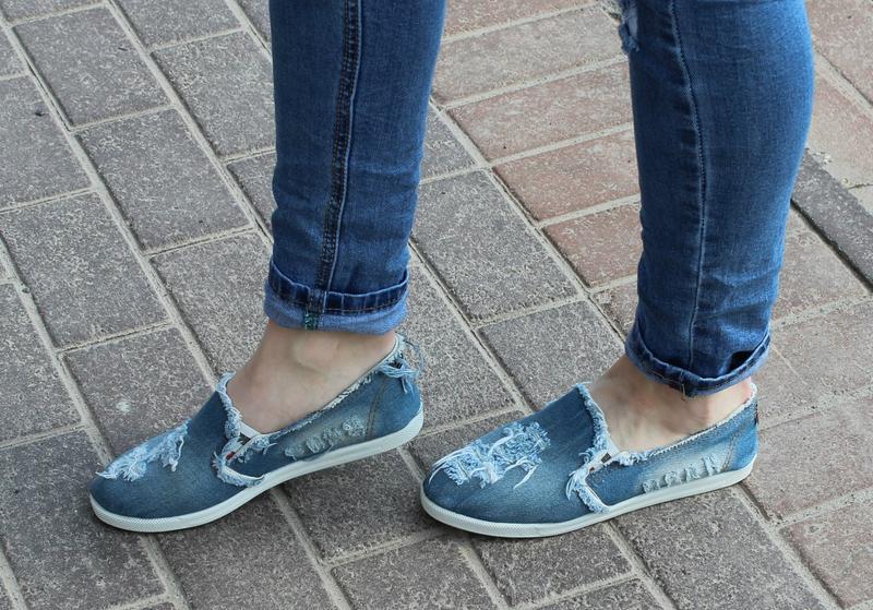 Женские джинсовые мокасины
