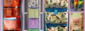 Разновидности карманов на шкафчик в детский сад