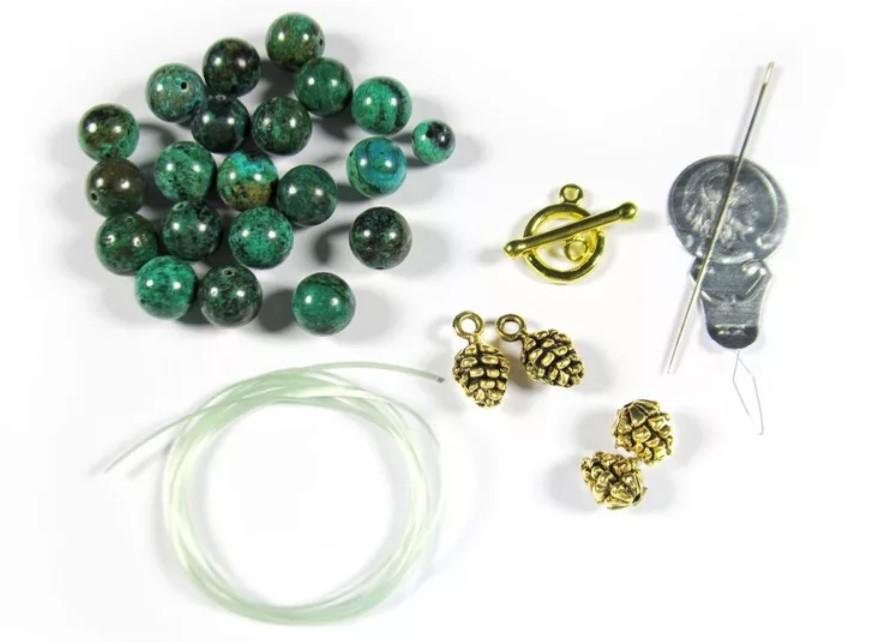 браслет из камня материалы инструменты