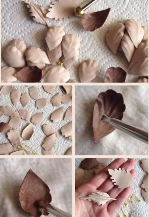 бусы из кожи лепестки
