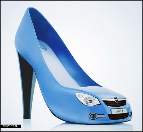 Обувь смешная