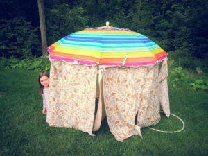 детская полатка из старого зонта