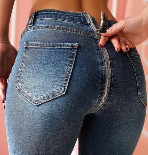 джинсы с молнией на попе 1