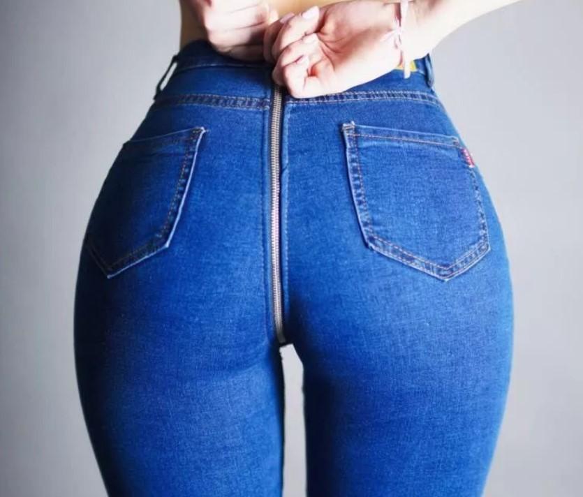 джинсы с молнией на попе 2