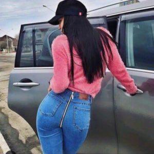 джинсы с молнией на попе 9