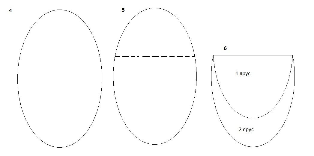 фата двухслойная овал 2 яруса