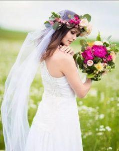 фата с цветами