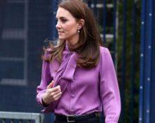 Зачем Кейт Миддлтон надела блузку задом наперед