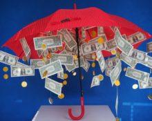 как сделать зонт с деньгами на свадьбу