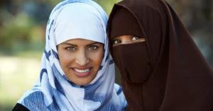 хиджаб закрывает лоб