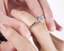как носят помолвочное кольцо