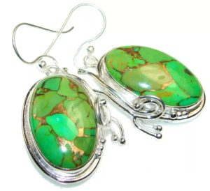 камни серьги с иранской бирюзой