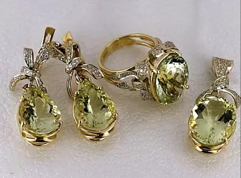 камни серьги сзеленым бериллом 2