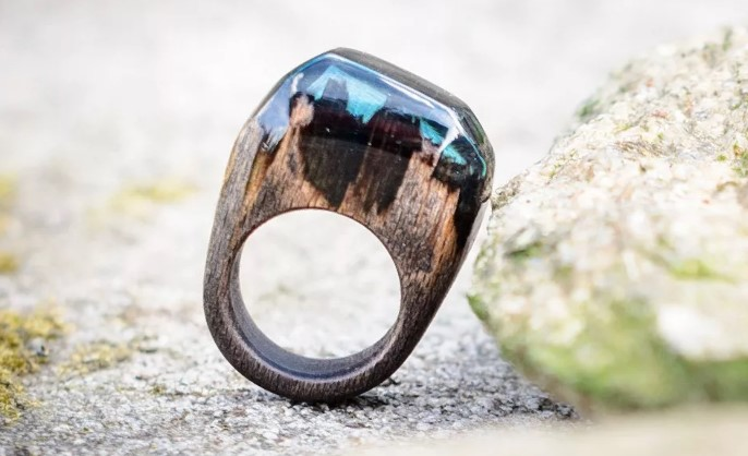 кольцо своими руками из дерева и эпоксидки