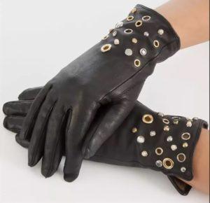 кожаные перчатки декор 1