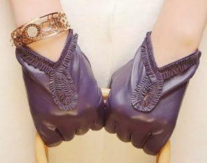 кожаные перчатки декор 2