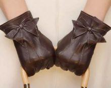 кожаные перчатки декор 3