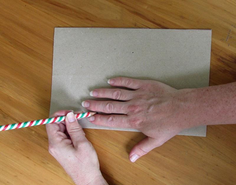 кожаные перчатки как обрисовать руку на бумаге