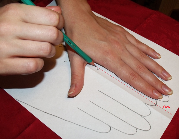 кожаные перчатки как сделать выкройку