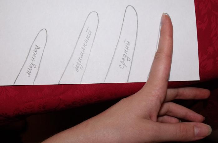 кожаные перчатки рисуем пальцы на бумаге