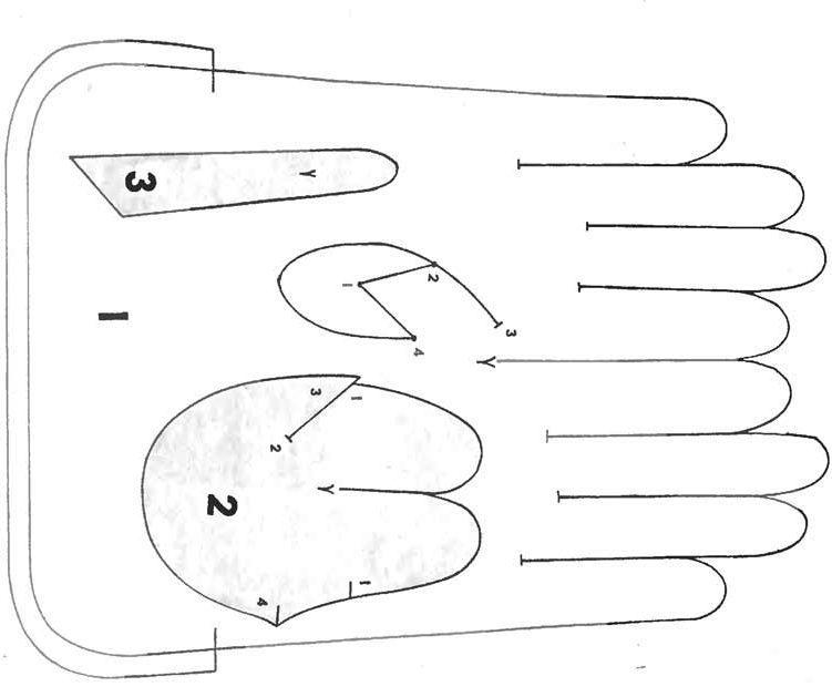 кожаные перчатки выкройка