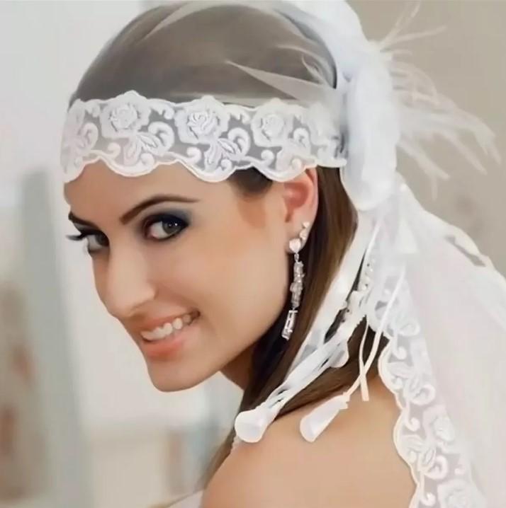 крепления фаты свадебный платок