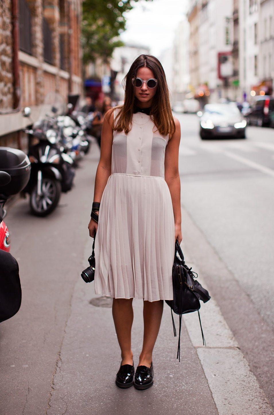 Элегантное сочетание с воздушным платьем