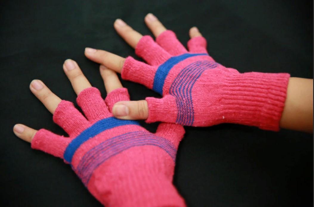 митенки из классических перчаток