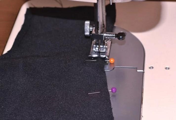 митенки сшиваем на машинке