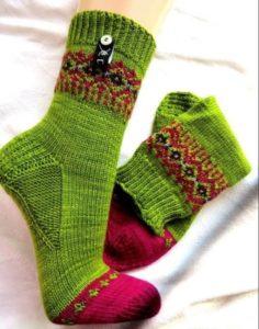 носки красно-зеленые