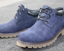 нубук синие ботинки