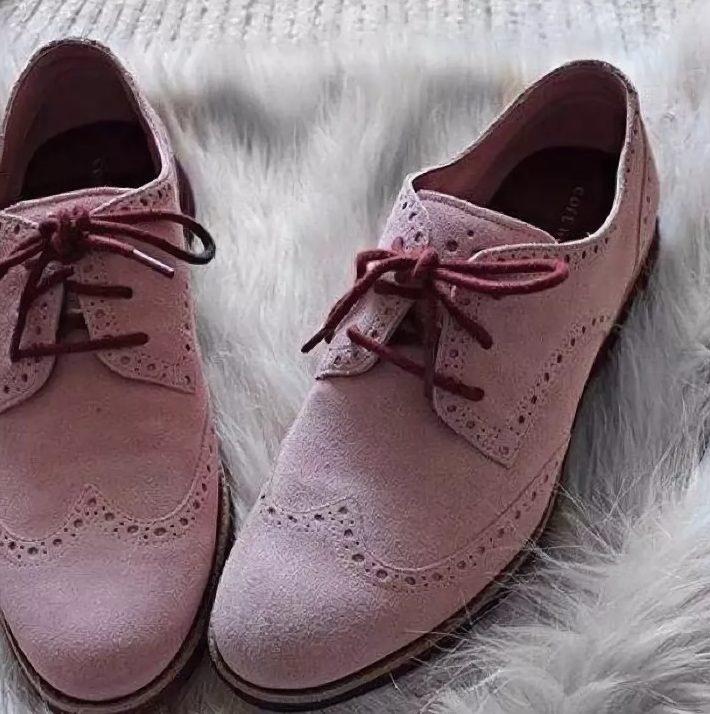 нубук женские розовые туфли
