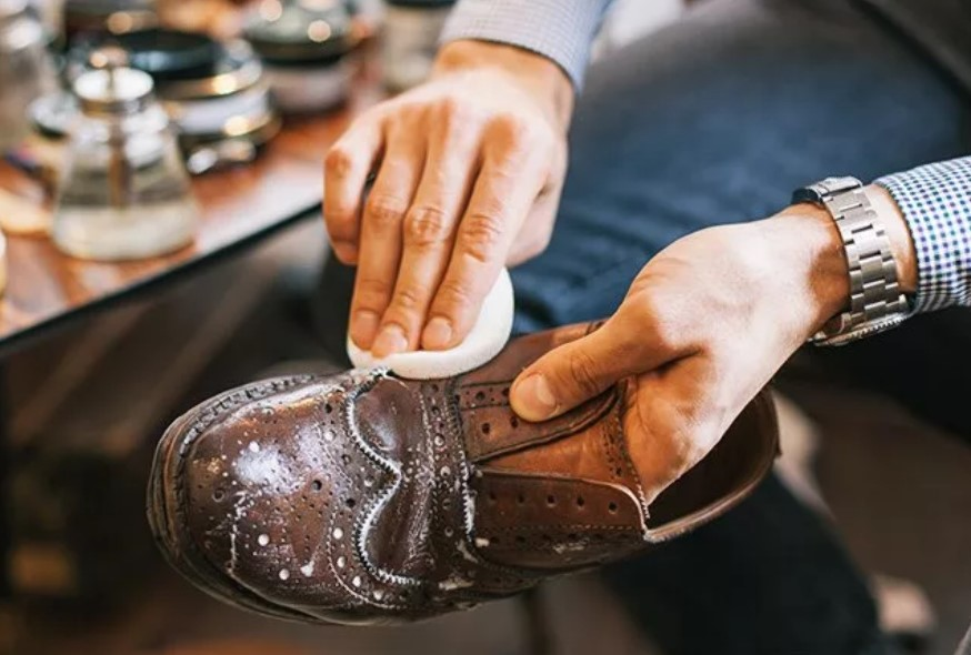 обувь из кожи от соли