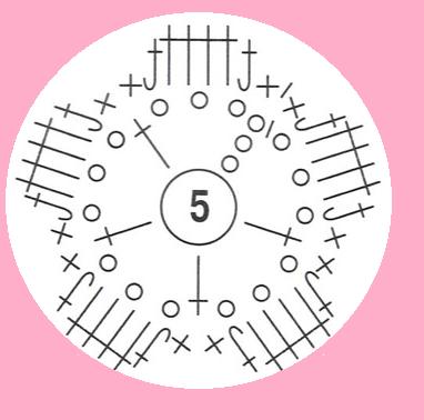 обвязать пуговицу схема 1-1