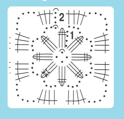 обвязать пуговицу схема 5