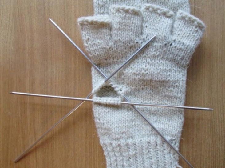 перчатка трансформер как вязать большой палец