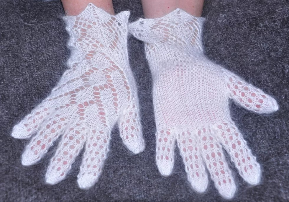 перчатки ажурные крючком 3