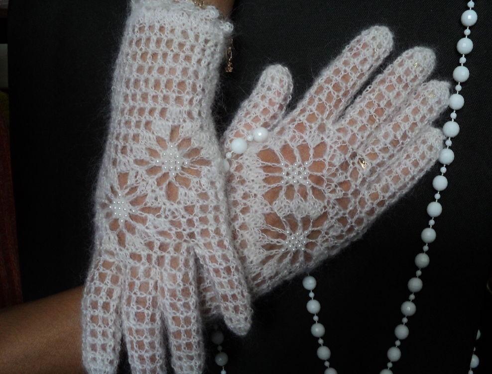 перчатки ажурные модель 1