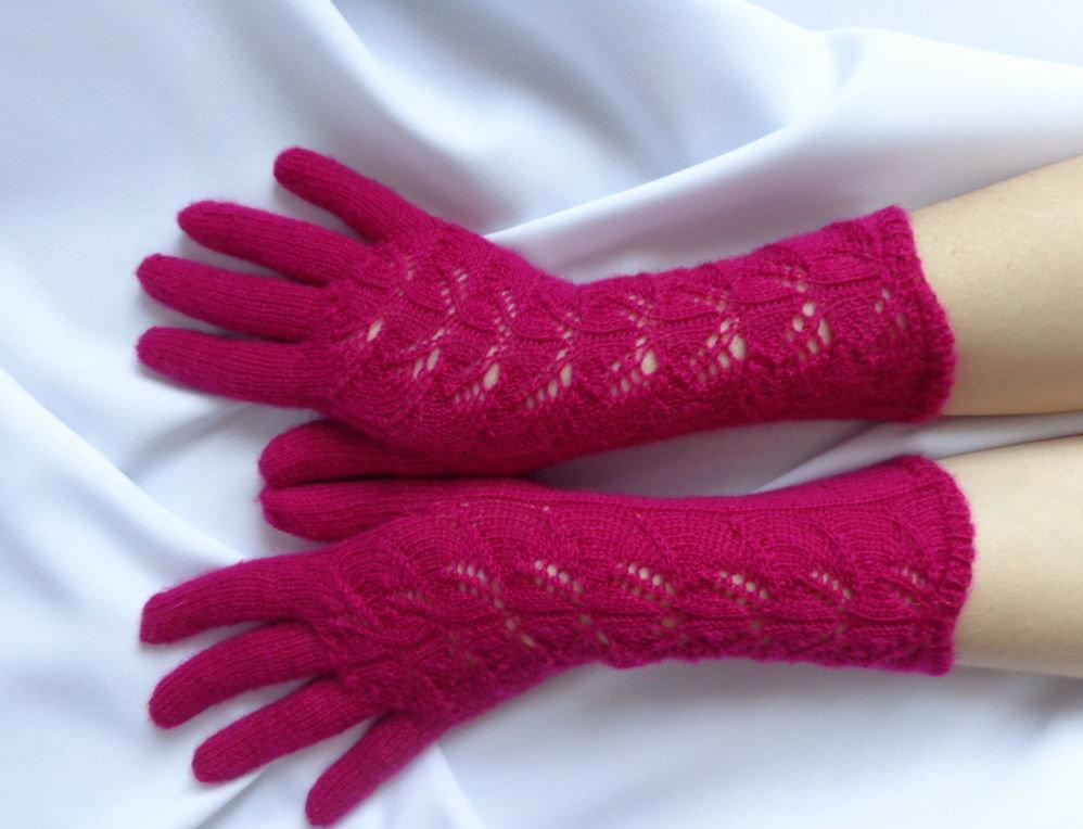 перчатки ажурные модель 2