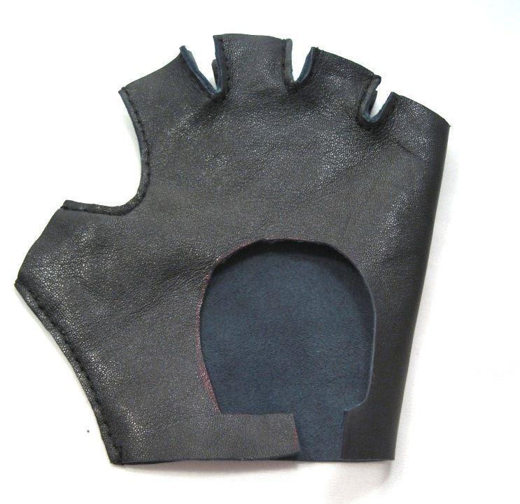 перчатки без пальцев из кожи 2