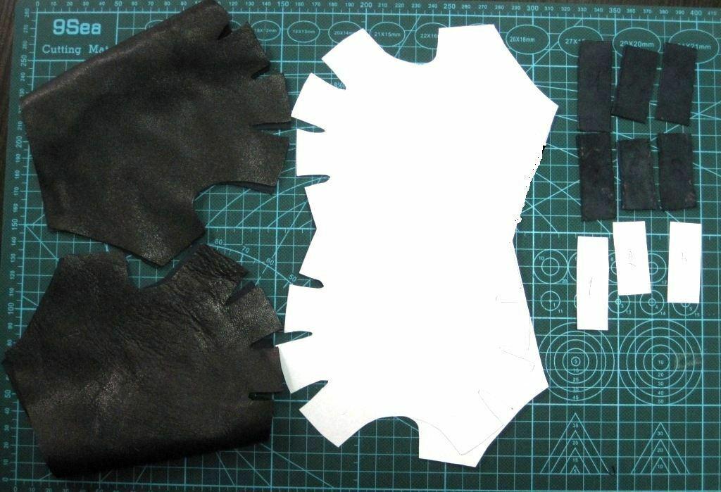 перчатки без пальцев раскрой митенки
