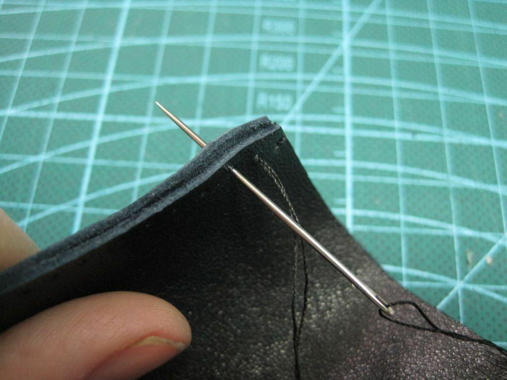 перчатки без пальцев сшиваем кожу