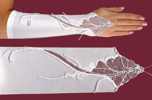 перчатки без пальцев свадебные из кружева