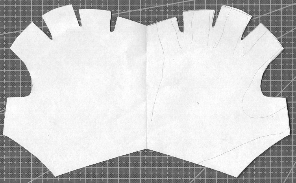 перчатки без пальцев выыкройки из бумаги 2