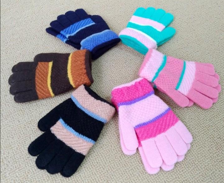 перчатки детские разноцветные