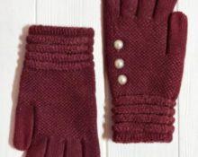 перчатки детские с бусинами