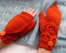 перчатки трансформер красные