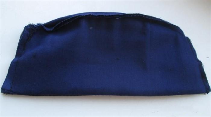 пилотка синяя вид сбоку